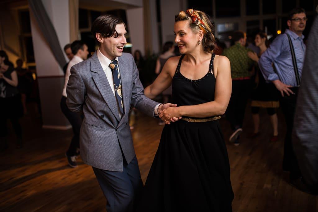 Lindy Hop couple enjoying a dance a swingstep berlin